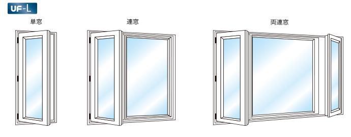 片 開き 窓
